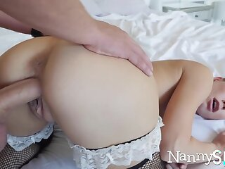 Horny nanny caught surrounding her hand surrounding her cookie jar! :o